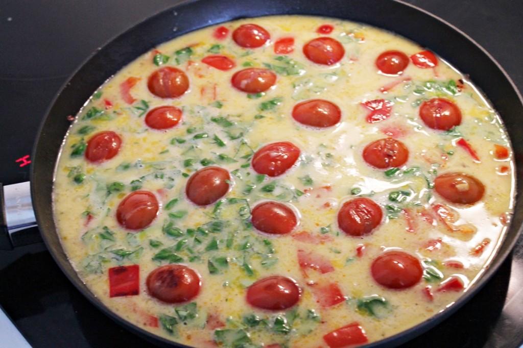æggekage, klar til ovnen, april 2013