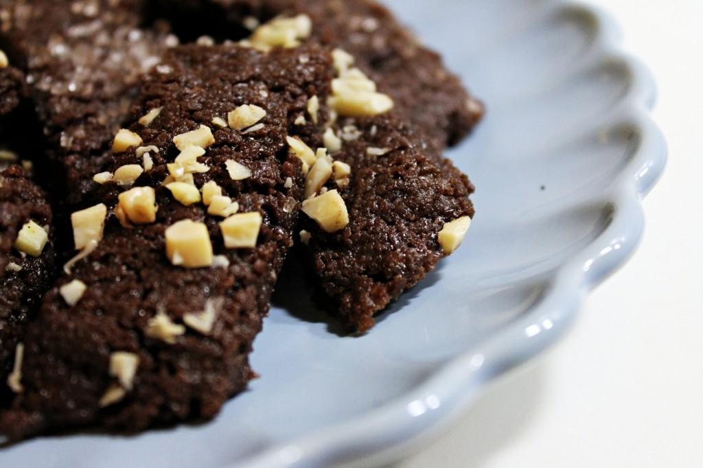 chokoladestænger - på fad, december 2012
