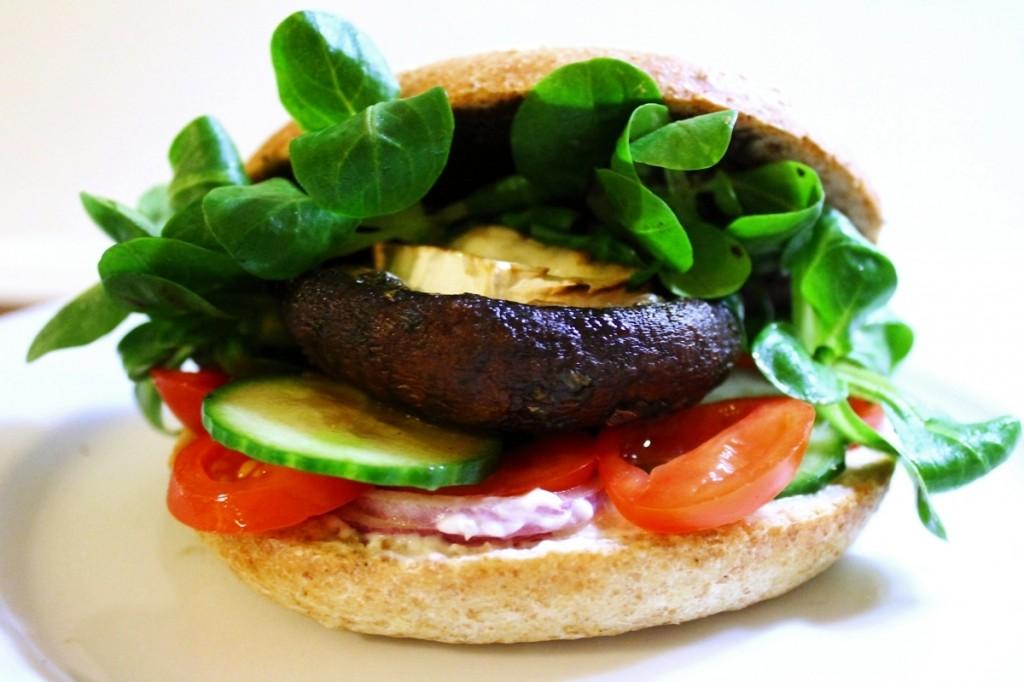 vegetarburger, færdig burger, januar 2013