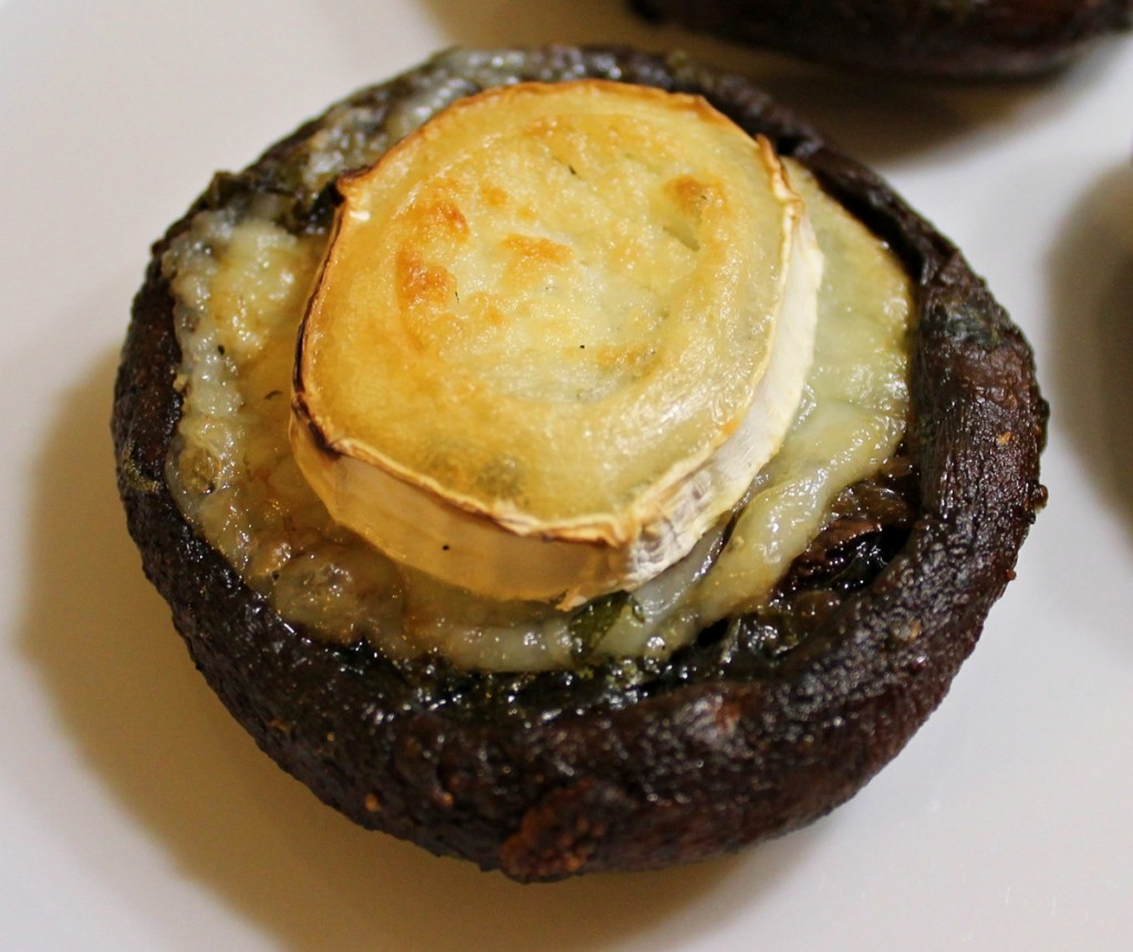 vegetarburger, svampe med gedeost færdige, januar 2013