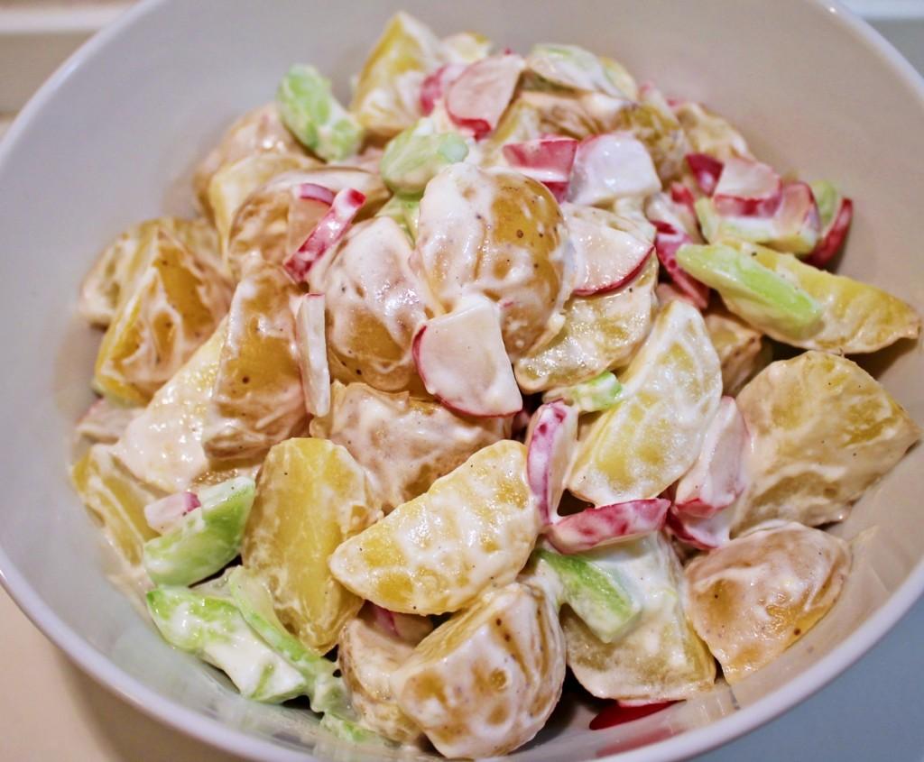 kartoffelsalat, færdig, marts 2013