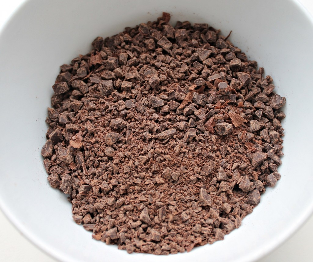 Chokoladetrøfler, hakket chokolade, december 2013