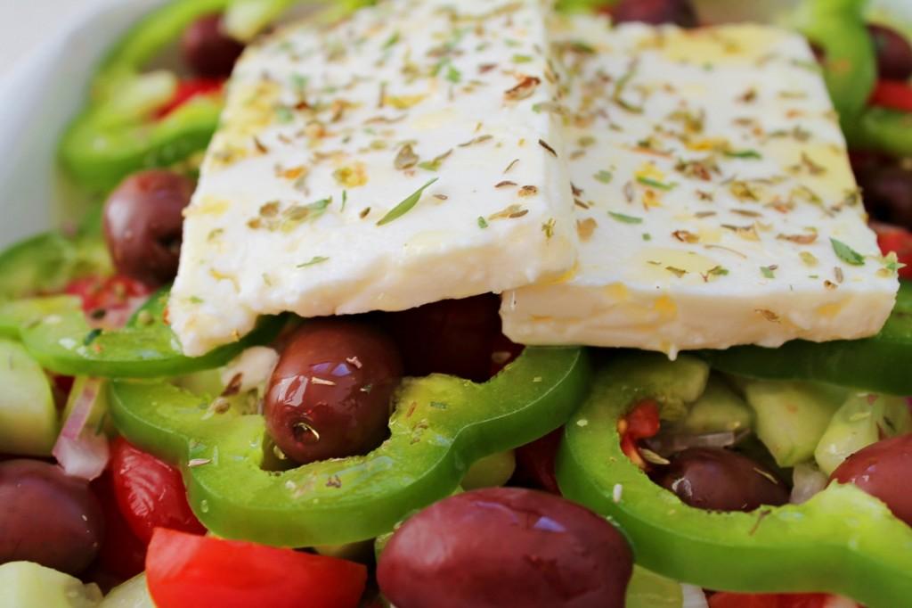 Græsk salat, færdig, juli 2013