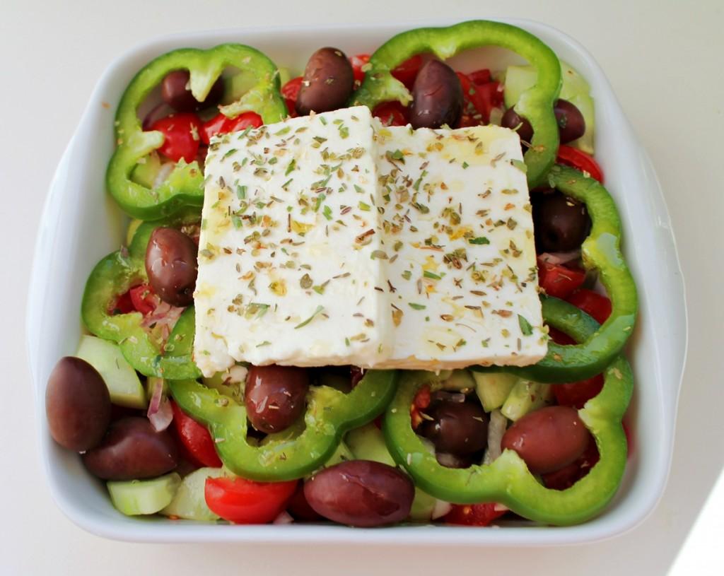 Græsk salat, færdig1, juli 2013