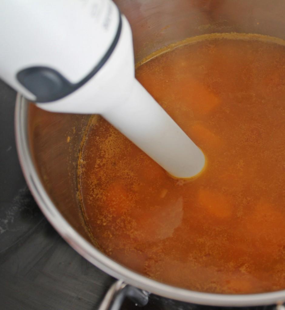 Cremet og krydret græskarsuppe