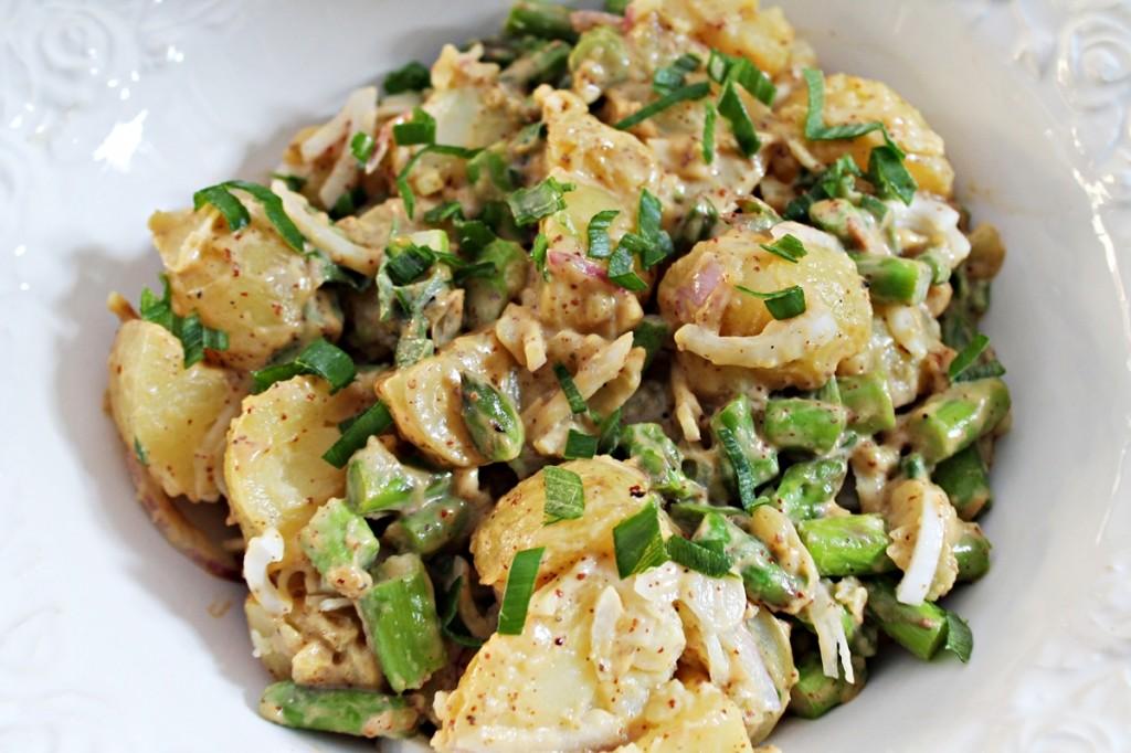 Kartoffelsalat, færdig, juli 2013