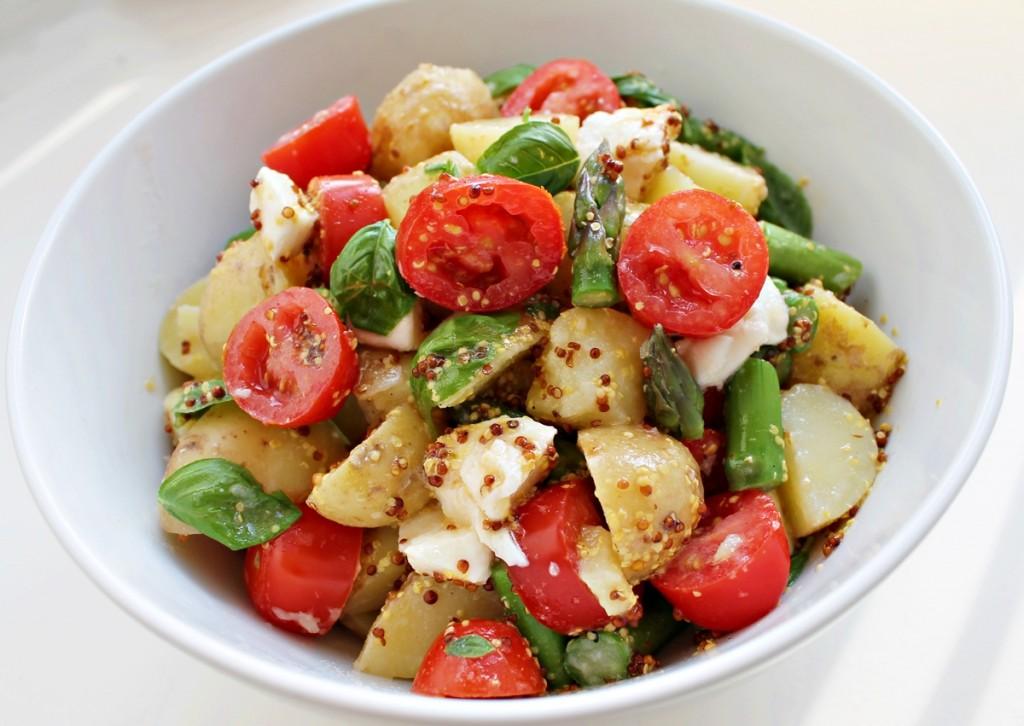 Kartoffelsalat, færdig, juni 2013