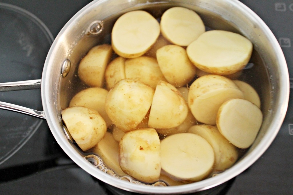 Kartoffelsalat, kartofler, juli 2013