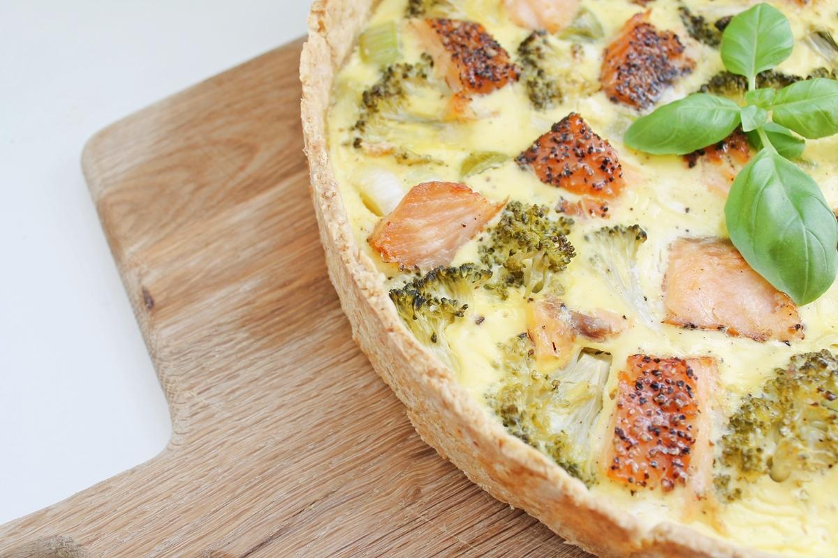 Grov Laksetærte Med Broccoli Og Porre Sofies Spisekammer
