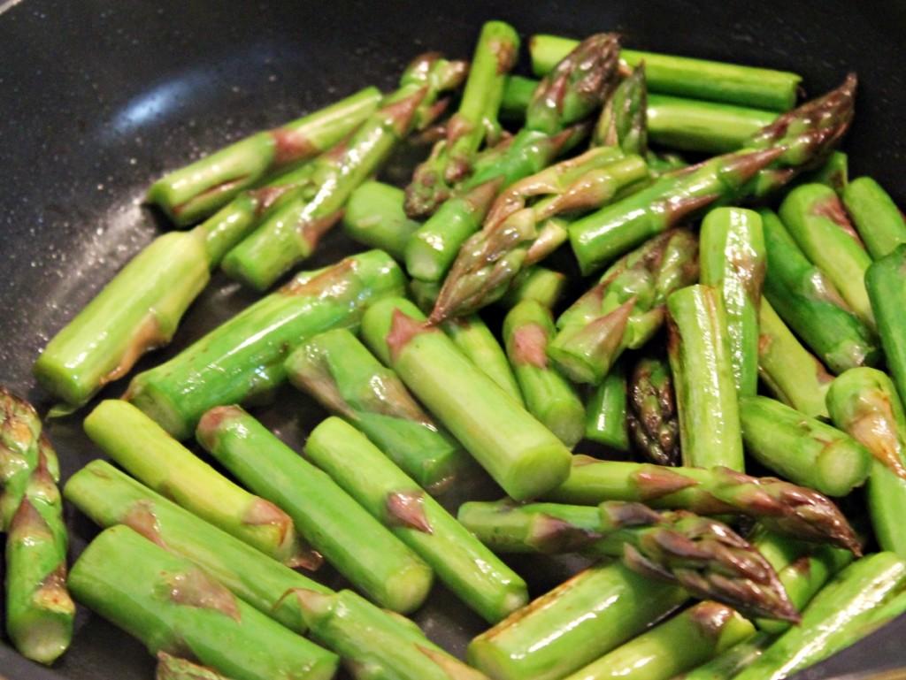 Torsk med risotto, asparges, april 2013