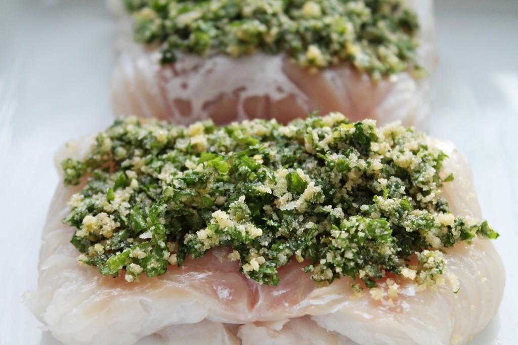 Torsk med risotto, fisk klar til ovnen, april 2013
