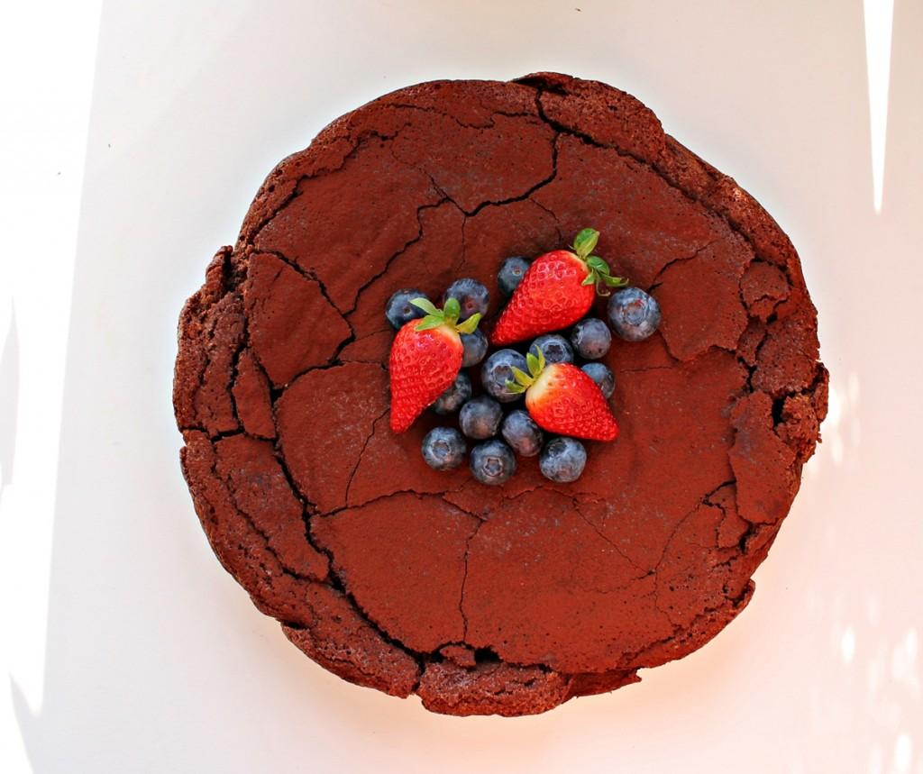 chokoladekage uden mel, kage1, april 2013