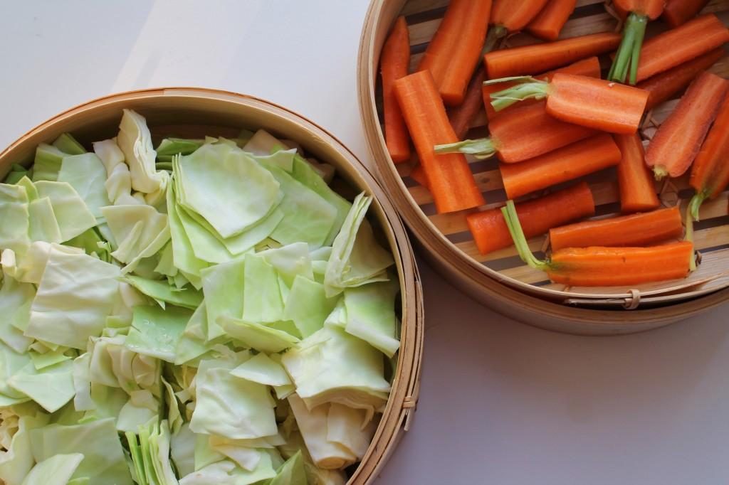 dampet spidskål, grøntsager til dampning, september 2013