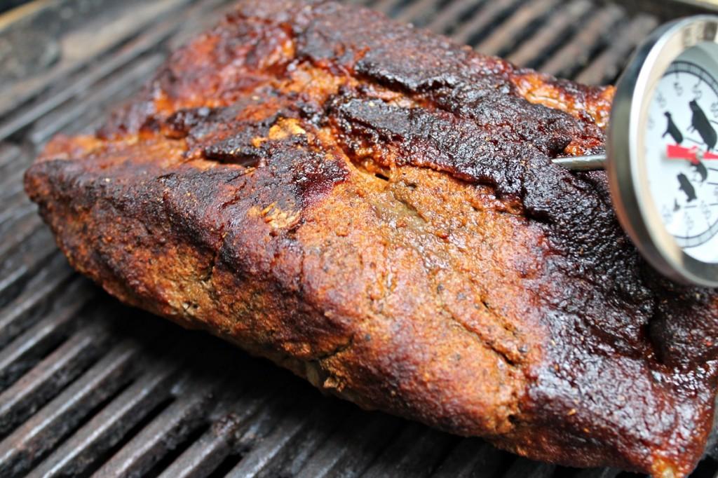 pulled pork, på grillen, maj 2013